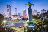 Bongeunsa Temple in the Gangnam District of Seoul, Korea.