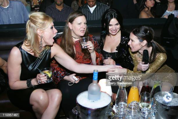 Night club owner Amy Sacco and actress Karen Duffy at Amy Sacco Birthday Celebration at the Body English nightclub at the Hard Rock Hotel Casino...