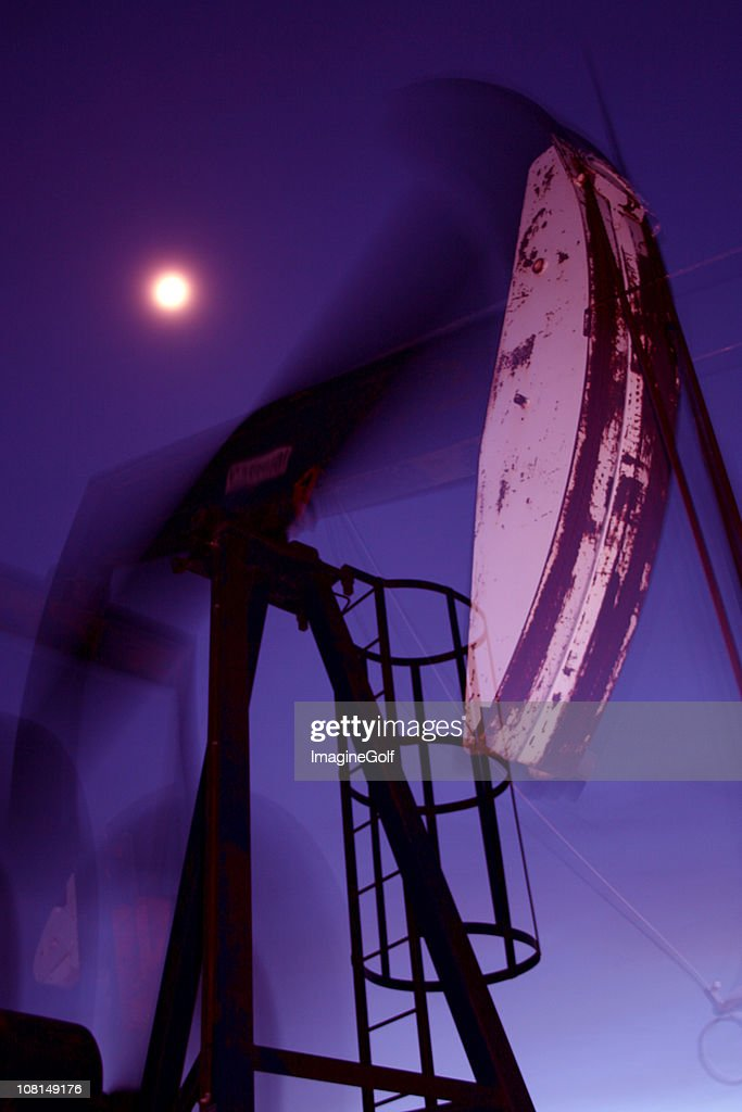 Drilling for Oil at night
