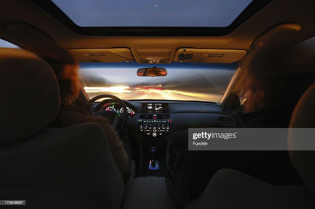 Night Driving : Stock Photo