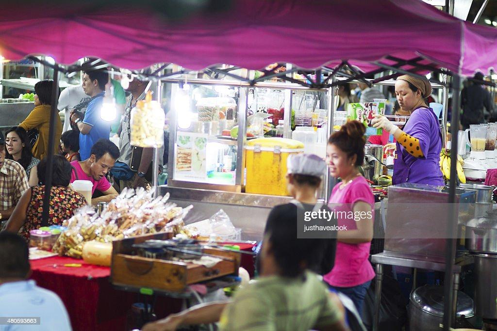 Night food market Chokchai 4 : Stock Photo