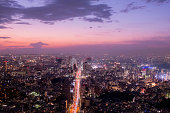 the time between sunset and night in Tokyo