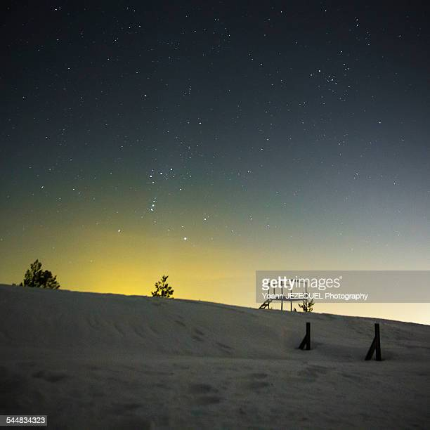 Night hiking in Lapland