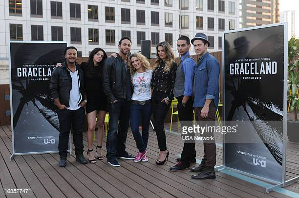 EVENTS SXSW @Night Hosted by USA Network's Graceland in Austin TX on Monday March 11 2013 Pictured Brandon Jay McLaren Daniel Sunjata Cat Greenleaf...