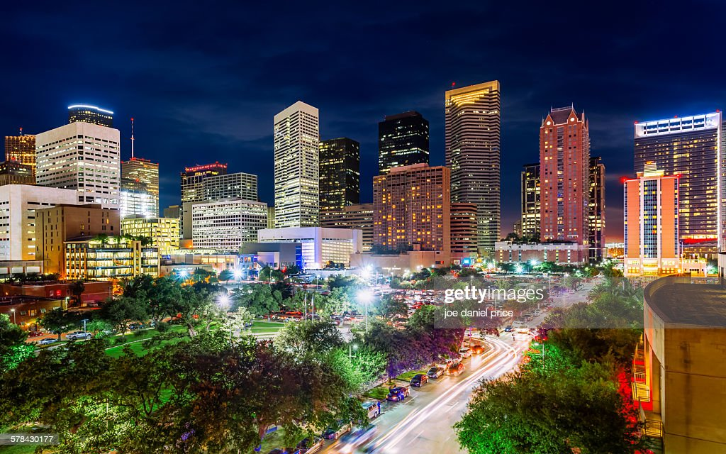 Night, Houston, Texas, America