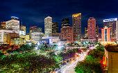 Night, Houston, Texas, America