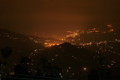 Beautiful night image of Darjeeling, Queen of Hills, West Bengal, India