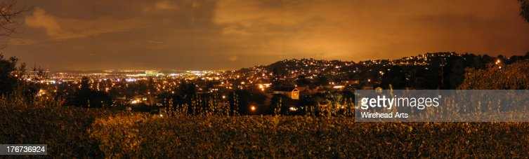 Night in Silicon Valley, viewed from San Mateo