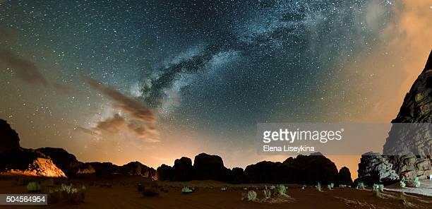 Night in Wadi Rum desert. Jordan