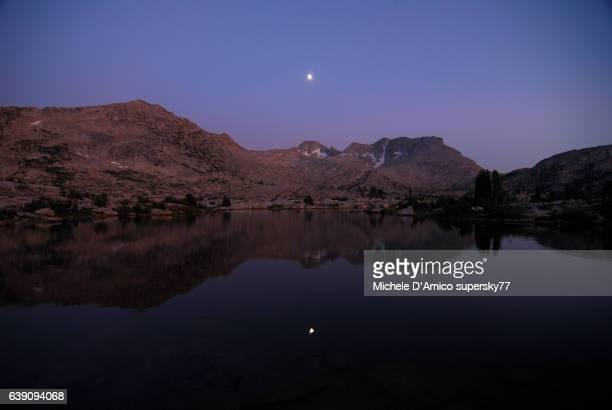 Night is falling on a High Sierra lake