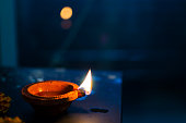 Night lamp earthen lamp happy diwali Merry Christmas new year