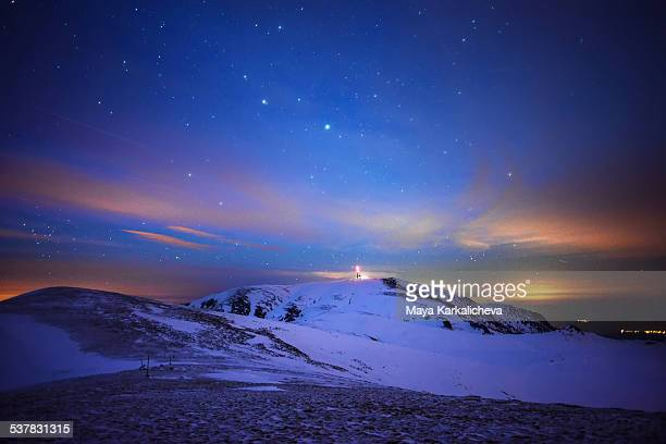 Night landscape in a mountain, Bulgaria.