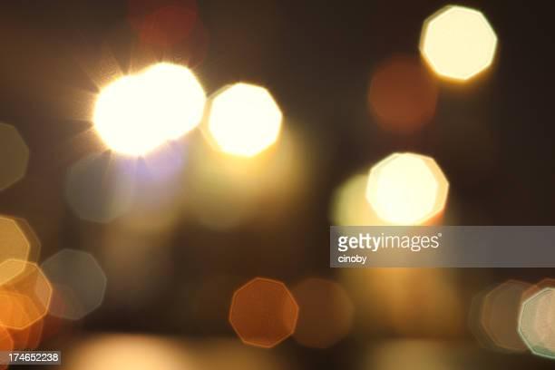 Lumières de Bokeh nuit