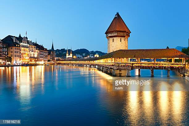 Night Lucerne, Switzerland