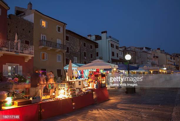 Night market in a mediterranean village