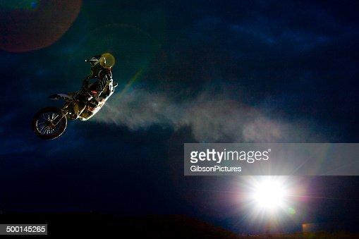 Night Motocross Rider