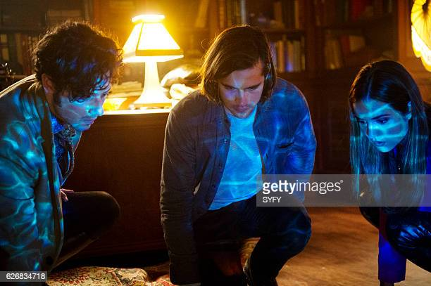THE MAGICIANS 'Night of Crowns' Episode 201 Pictured Hale Appleman as Eliot Jason Ralph as Quentin Summer Bishil as Margo