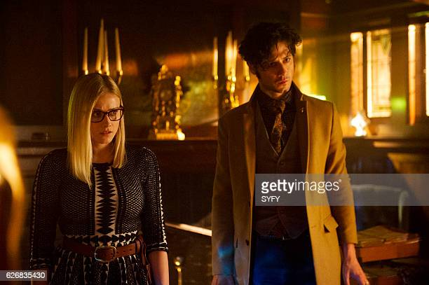 THE MAGICIANS 'Night of Crowns' Episode 201 Pictured Olivia Taylor Dudley as Alice Hale Appleman as Eliot