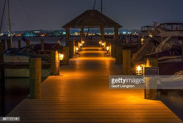 Night on the dock