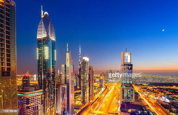 Night over Dubai Megacity