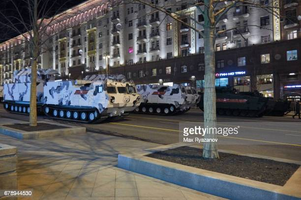 Night rehearsal of Moscow Victory Parade