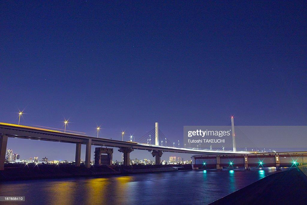 Night River on Tokyo