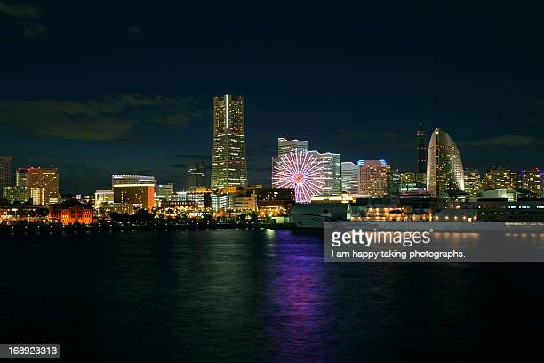 night scene in Yokohama