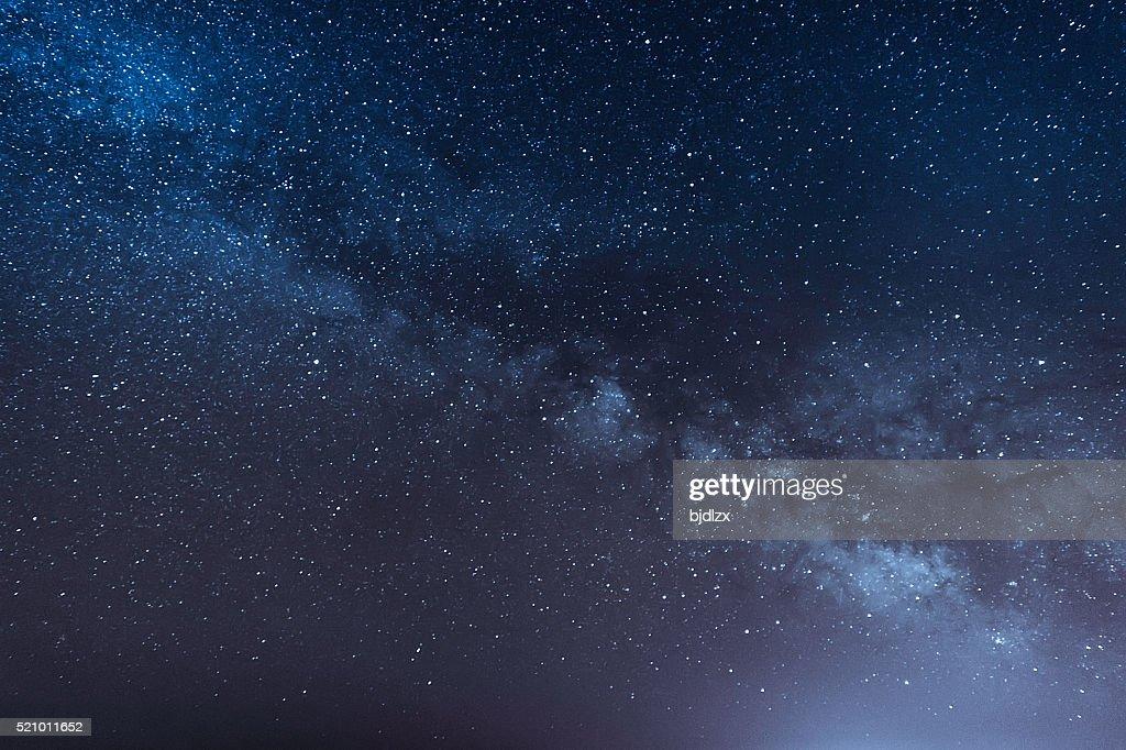 Nacht Szene Milchstraße Hintergrund : Stock-Foto
