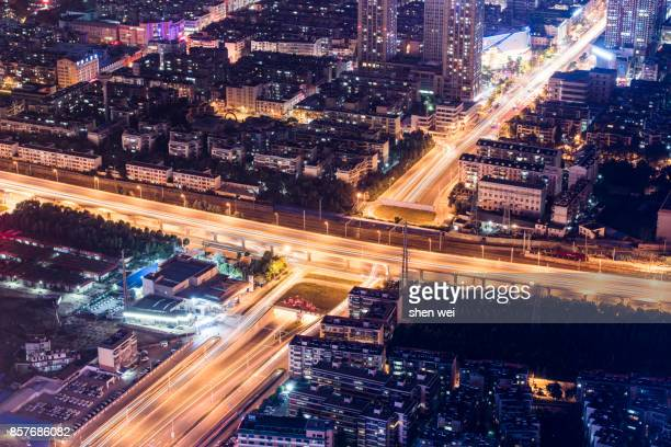 Night Scene of Kunming with Light Trail, Yunnan, China