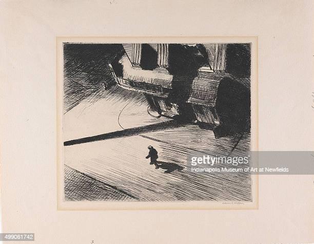 Night Shadows by American artist Edward Hopper 1921 Mr and Mrs Julius F Pratt Fund