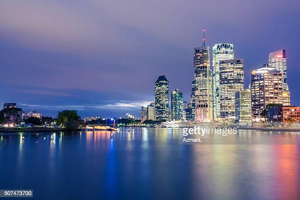 Noche de la ciudad de Brisbane toma
