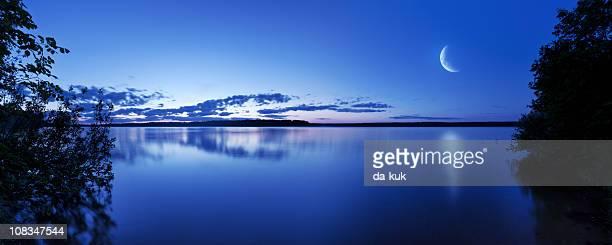 Night shot of lake