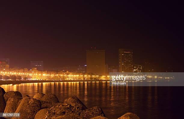 Night shot of Marine drive, Mumbai