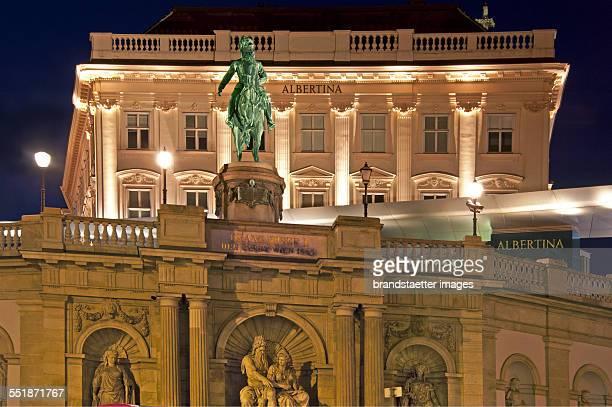 Night shot of the Albertina Vienna 2013 Photograph by Gerhard Trumler
