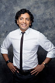 M Night Shyamalan of 'The Visit' poses for a portrait at ComicCon International 2015 for Los Angeles Times on July 9 2015 in San Diego California...