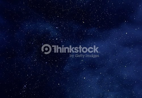 Night Sky with Stars and soft Milky Way Universe as Background or Texture : Stock Photo