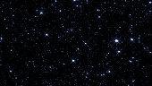 Night sky with stars sparkling on black background
