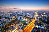 Night skyline of Moscow