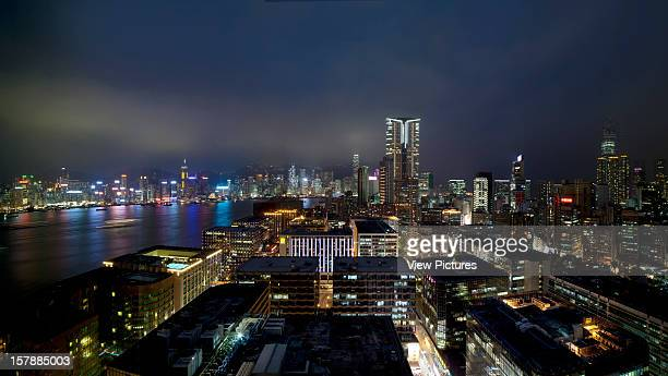 Night Time View Of Hong Kong Island From Hotel Icon Rocco Yim China Architect