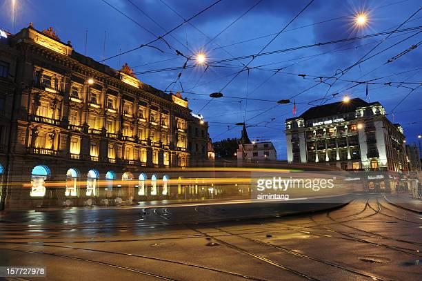 Nacht Verkehr in Zürich