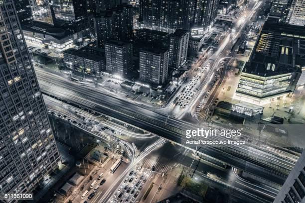 Night traffic of Beijing