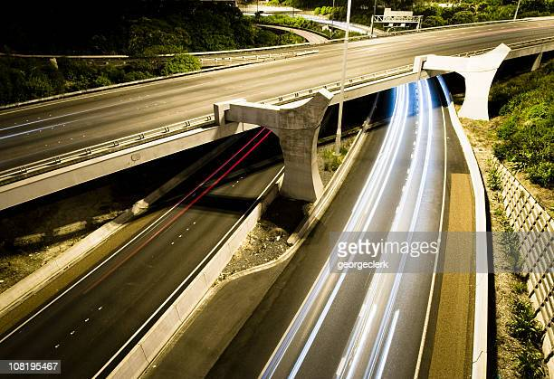 Night Traffic Trails