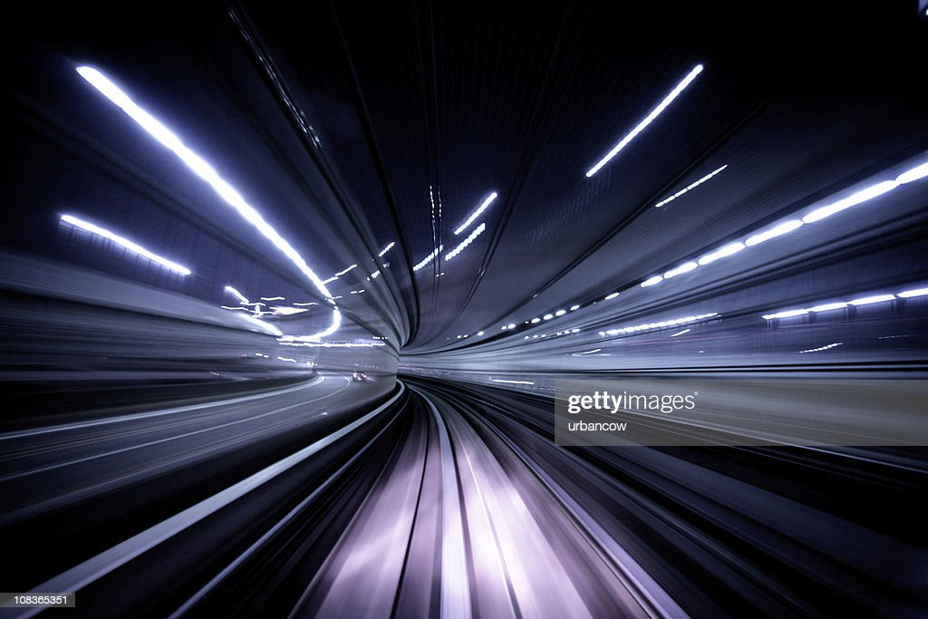 Night tunnel : Stock Photo