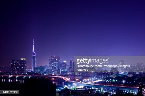 Night view at Fukuoka
