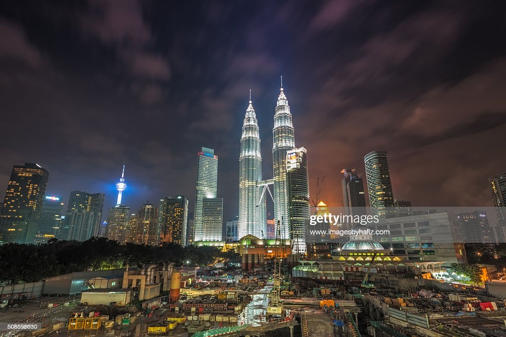 Night View at Petronas Towers : Foto de stock