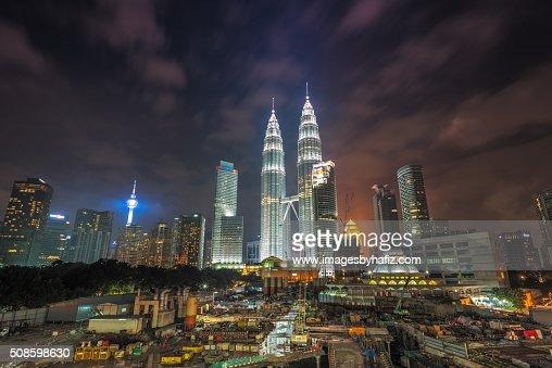 Night View at Petronas Towers : Foto de stock