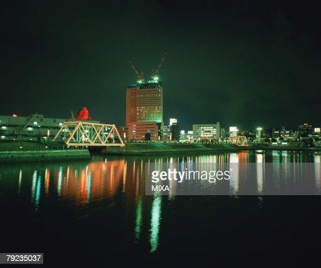 Night View in Yokohama, Japan : Stock Photo