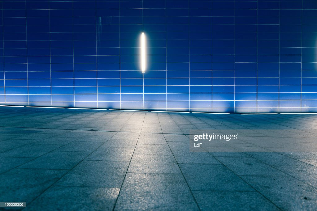 Night view of a pedestrian area in London : Stock Photo