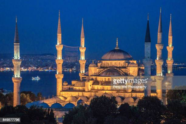 Night View Of Blue Mosque, Istanbul, Turkey