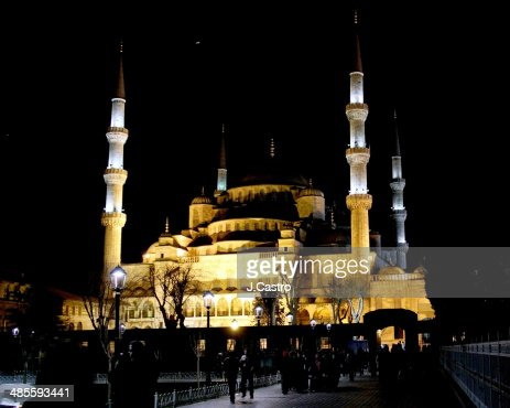 Night view of Blue Mosque
